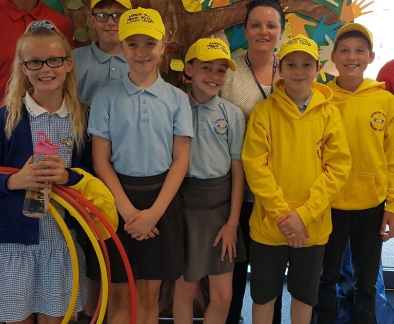 happy confident student leaders