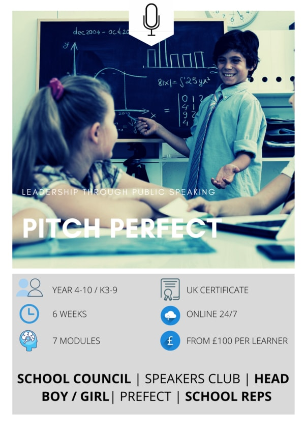 Public speaking for student leaders online course, Pitch perfect