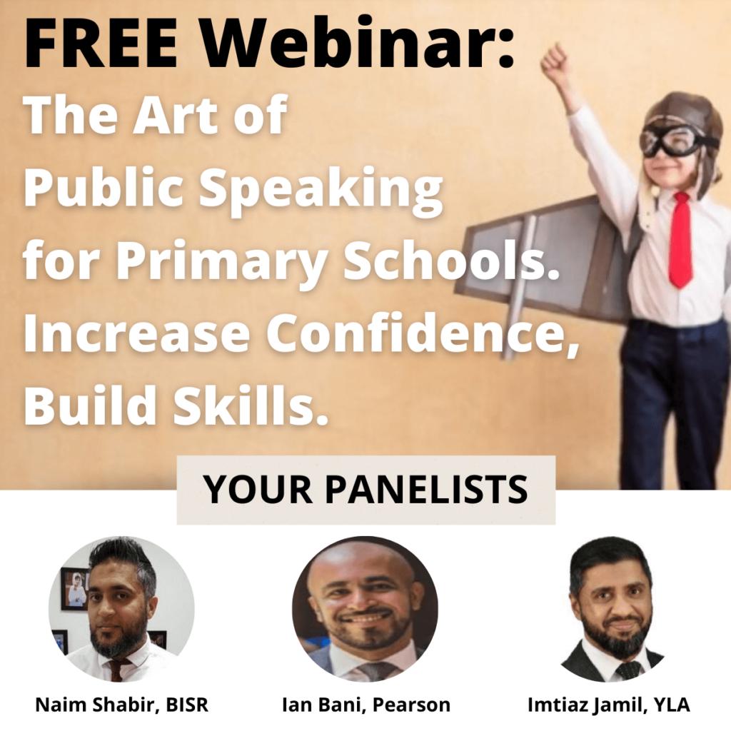 art of public speaking for primary schools free webinar